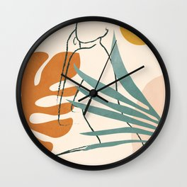Minimal Line in Nature III Wall Clock