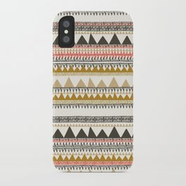 Mountain triangle pattern iPhone Case