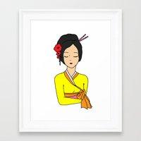 korean Framed Art Prints featuring Korean Maiden by RaJess