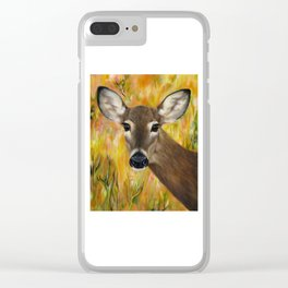 Deer Spirit Clear iPhone Case
