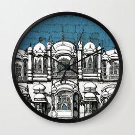 Hawa Mahal (Teal) Wall Clock
