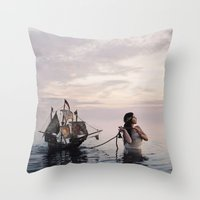 neverland Throw Pillows featuring Finding Neverland by Mila Photographie