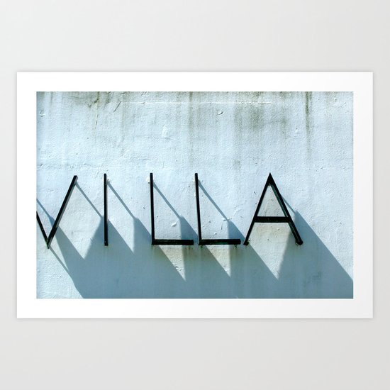Villa Shadows Art Print