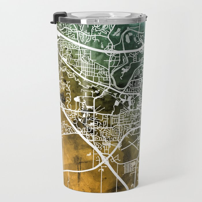 Iowa City Map Travel Mug