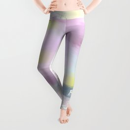Be Who You Are (white on colour) Leggings