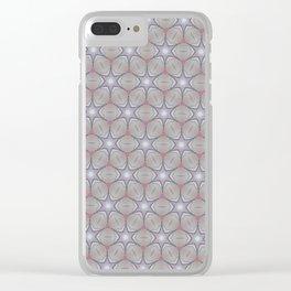 Metallic star grid Clear iPhone Case