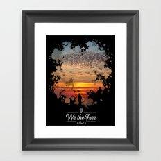 Sunset poster Framed Art Print