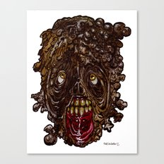 Heads of the Living Dead Zombies: Sludge Zombie Canvas Print