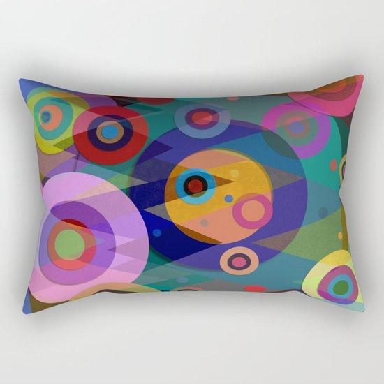 Abstract #507 Triangles & Circles Rectangular Pillow