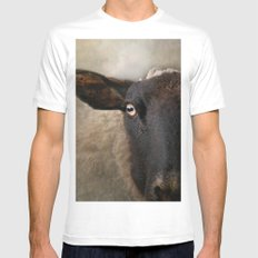 In a sheep's eye MEDIUM White Mens Fitted Tee