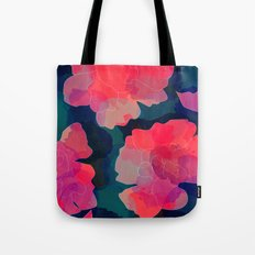 Blushing Flowers- Purple Tote Bag