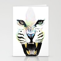 cheetah Stationery Cards featuring Cheetah  by Tetevi Teteh