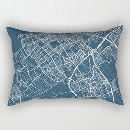 The Hague Blueprint Street Map, The Hague Colour Map Prints Rectangular Pillow