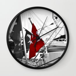 Flag of Turkey - Selective Coloring Wall Clock