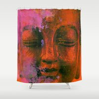meditation Shower Curtains featuring Meditation by zAcheR-fineT