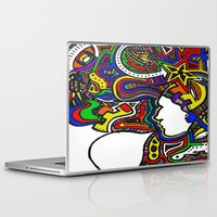techno Laptop & iPad Skins featuring Rainbow Techno by Madison R. Leavelle