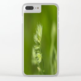 Green Plant Clear iPhone Case