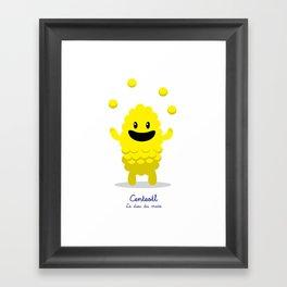 Centeotl - Le dieu du maïs (Lil Gods) Framed Art Print