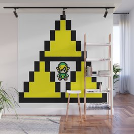 Link in Tri-Force Wall Mural