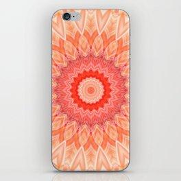 Mandala soft orange iPhone Skin