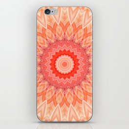 Mandala soft orange iPhone Skin