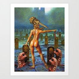 Undead Love Art Print