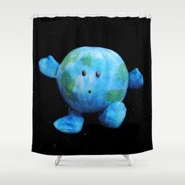 Zero-G Indicator - Earth Plush Shower Curtain