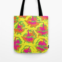 preppy Tote Bags featuring Preppy Pineapple by Kristin Seymour