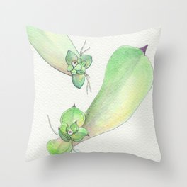 Sempervivum Baby Eyes Throw Pillow