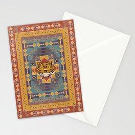 Boho Graphic Moroccan Oriental Modern Pattern Art Design - 3 Tiger Stationery Cards