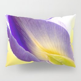Lovely Purple Iris Flower Yellow Background #decor #society6 #buyart Pillow Sham