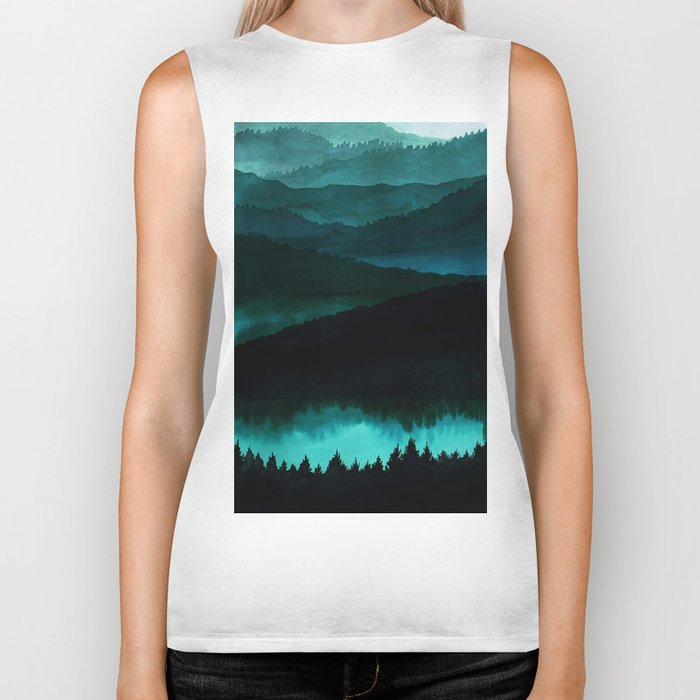 Indigo Mountains Biker Tank