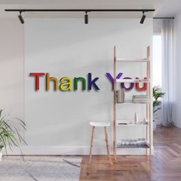 Colorful Thank You Wall Mural