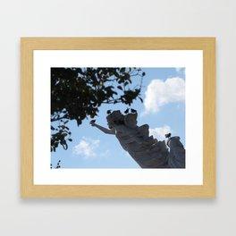 Finding A Safe Place Framed Art Print