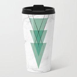Marble Scandinavian Design Geometric Triangle Travel Mug