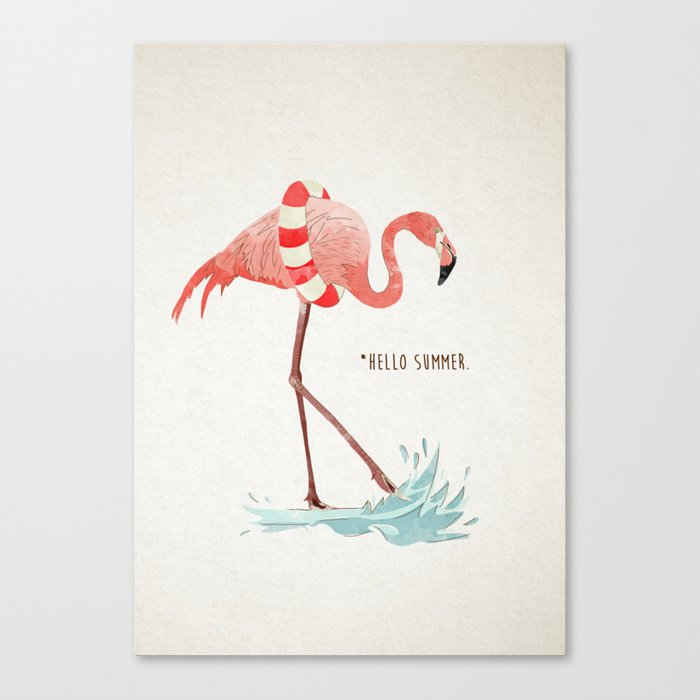Flamingo Summer Canvas