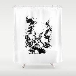 Bakugo Katsuki Ink Splatter Shower Curtain