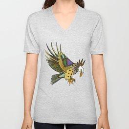jewel eagle white Unisex V-Neck
