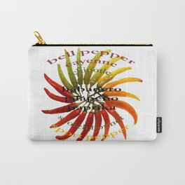 Chili Color Wheel With Hot Pepper Text Carry-All Pouch