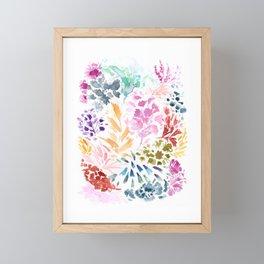 cornelia. watercolor florals. Framed Mini Art Print