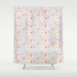 Ella in Blush Pink Shower Curtain