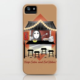 No Face Kaonashi Selling Udon iPhone Case