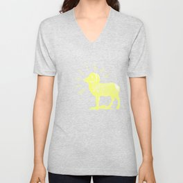 RAM TEE YELLOW Unisex V-Neck