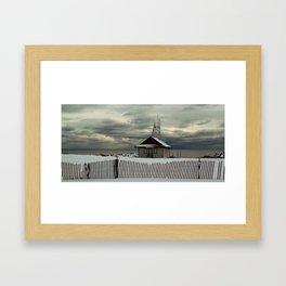 Leuty Life Guard Station Framed Art Print