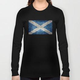 Scottish Flag - Vintage Retro Style Long Sleeve T-shirt