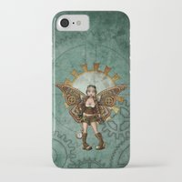 steam punk iPhone & iPod Cases featuring Steam Punk Pilot Faery by Hafapea