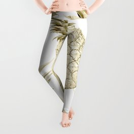 Gold Pineapple Party Leggings