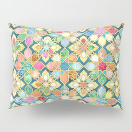 Gilded Moroccan Mosaic Tiles Pillow Sham
