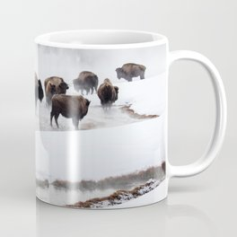 Yellowstone National Park - Bison Herd Coffee Mug