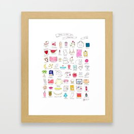 Things To Love- A Happy List Framed Art Print